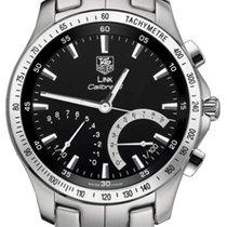 TAG Heuer Link Calibre S Stainless Steel Chronograph Black Quartz