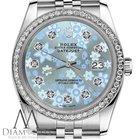 Rolex Ladies Rolex 31mm Datejust Glossy Ice Blue Flower Dial...