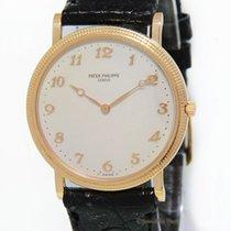 Patek Philippe Calatrava 18k Rose Gold Cream Dial Mens Watch...
