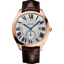 Cartier Drive Automatic WGNM0003 Rose Gold Leather NEW Silver
