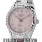 Rolex Air-King Steel 34mm Pink Diamond Dial & Diamond...