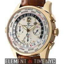 Girard Perregaux WW.TC 18k Rose Gold Silver Dial 44mm Ref....