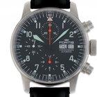 Fortis Flieger Stahl Chronograph Automatik Armband Leder 40mm...