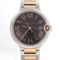 Cartier Ballon Bleu Rose Gold/SS Chocolate Dial Watch W6920032
