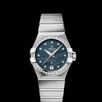 Omega Constellation Co-Axial Blue Dial 27 MM R 123.15.27.20.53...