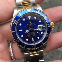 Rolex Submariner Oro Acciaio Gold steel blu blue RRR sel