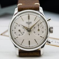 Heuer 3336 Vintage Pre-Carrera Valjoux 23 Chronograph SS (24486)