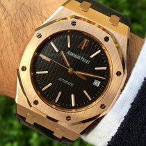 Audemars Piguet Royal Oak Rose Gold 39mm Black Dial Mint Box...
