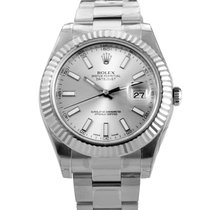 Rolex Oyster Perpetual Datejust II 41mm Fluted Bezel 116334 sio