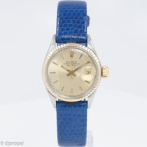 Rolex Stainless Steel and 14k Ladies Date