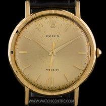 Rolex 18k Yellow Gold Champagne Baton Dial Vintage Precision 8952
