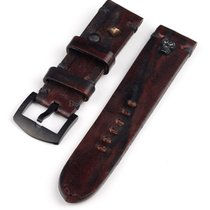 U-Boat Vintage Kalbsleder Ersatzband -scull- braun 23/22 Ref....