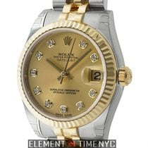 Rolex Datejust 31mm Steel & Yellow Gold Fluted Champagne...
