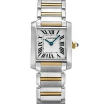 Cartier Tank Anglaise Stainless Steel and Yellow Gold