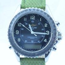 Breitling Intruder Reveil Herren Uhr Stahl/stahl 42mm Rar...