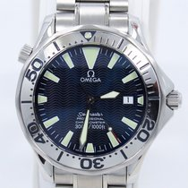 Omega Seamaster 300m Stainless Steel Blue Wave Dial Automatic...