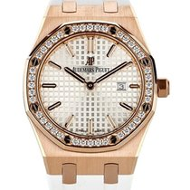 Audemars Piguet Royal Oak Lady 33mm In Oro Rosa 18kt E...