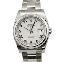 Rolex DateJust Stainless Steel White Roman Dial-116200