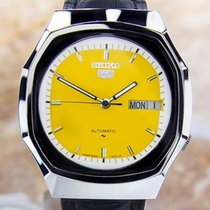 Seiko 5 Mens Vintage Rare Stainless Steel Japanese Automatic...