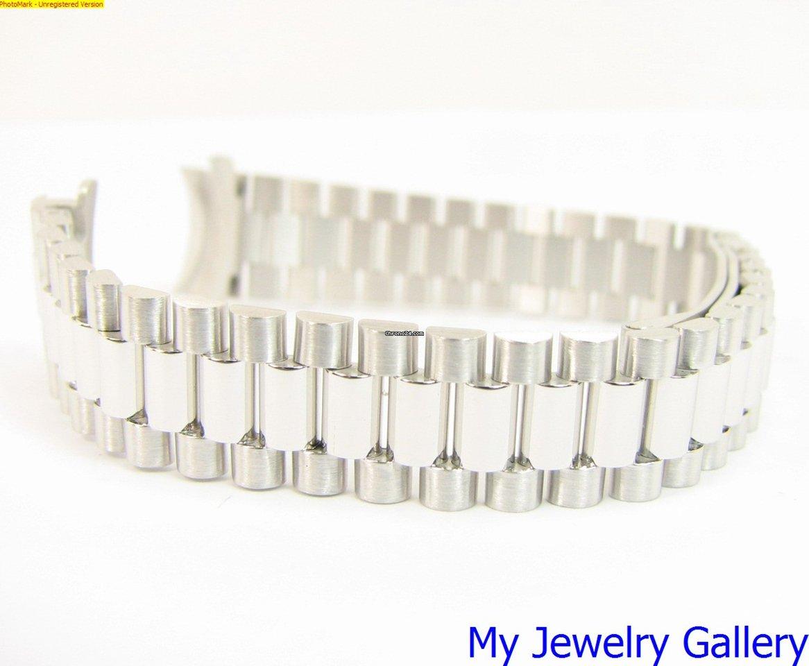 rolex aftermarket 18k white gold bracelet band for ladie