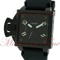 Welder Men's Analog, Black Dial - Black Ion-Plated...