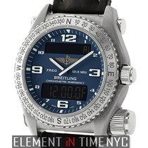 Breitling Emergency SuperQuartz Titanium 43mm Blue Dial 2011...