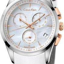 ck Calvin Klein bold chrono K5A37BLG Damenchronograph Klassisc...