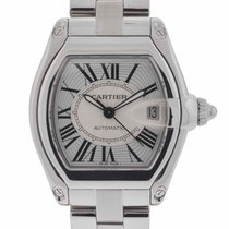 Cartier Roadster 2510 Stainless Steel Silver Dial Watch