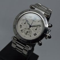 Cartier Pasha 38mm Steel Chronograph Date with 1 year warranty
