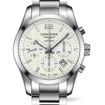 Longines Conquest Classic Chronograph Silver Dial  41mm R