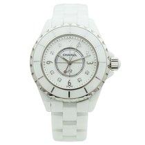 Chanel J12 White Ceramic Diamonds Quartz Ladies