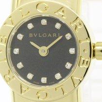 Bulgari Polished  Tubogas Diamond 18k Gold Quartz Ladies Watch...