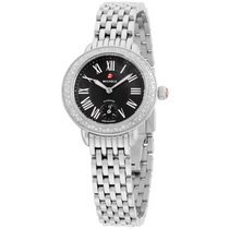 Michele Mww21e000018 Serein Ladies Watch Black Dial Stainless...