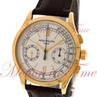 Patek Philippe Chronograph, Silver Dial - Yellow Gold on Strap