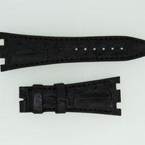 Audemars Piguet Lederband / Alligator / Hornback /Schwarz-28/1...