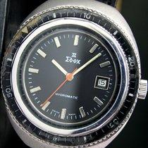 Edox Hydromatic Sports Bezel Automatic Date Steel Mens Watch
