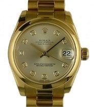 Rolex Datejust Medium Gelbgold Diamond Automatik Armband...