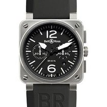 Bell & Ross Steel Automatic Stainless Steel BR-03-94 CARBON