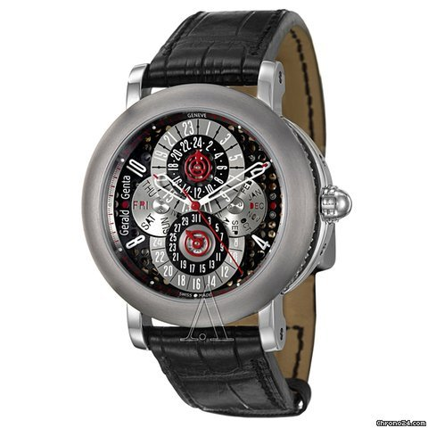 Grald Genta Men&amp;#39;s Arena PC GMT Watch