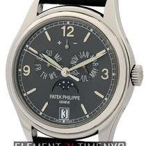 Patek Philippe Complications Annual Calendar Moon 18k White Gold