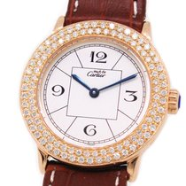 Cartier 1806 Rose Gold Capped, Custom Diamond Setting, with Box