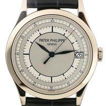 Patek Philippe 5296G-001 Calatrava 38mm Silver Date White Gold...