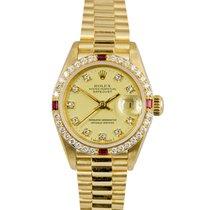 Rolex Datejust Ladies 18k, Diamond/Ruby Dial & Bezel,...