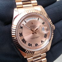 Rolex Day-Date II Gold President Pink Roman