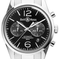 Bell & Ross BR 126 Vintage BRV 126 Officer Black Bracelet