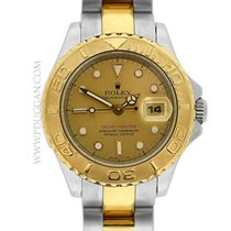 Rolex stainless steel and 18k yellow gold ladies Yachtmaster