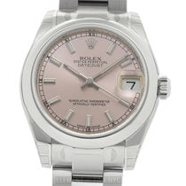 Rolex Datejust Stainless Steel 31mm Pink Index Dial Ref. 178240