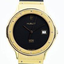 Hublot MDM Armbanduhr Quartz Gelbgold 18kt mit Kautschukband