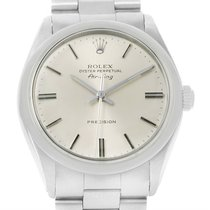 Rolex Air King Vintage Stainless Steel Silver Dial Mens Watch...