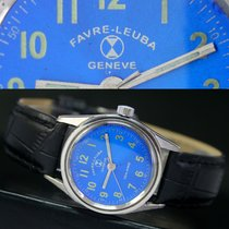 Favre-Leuba Geneve Sea King Winding Steel Unisex Watch Blue